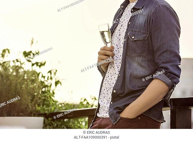 Man with glass of champagne