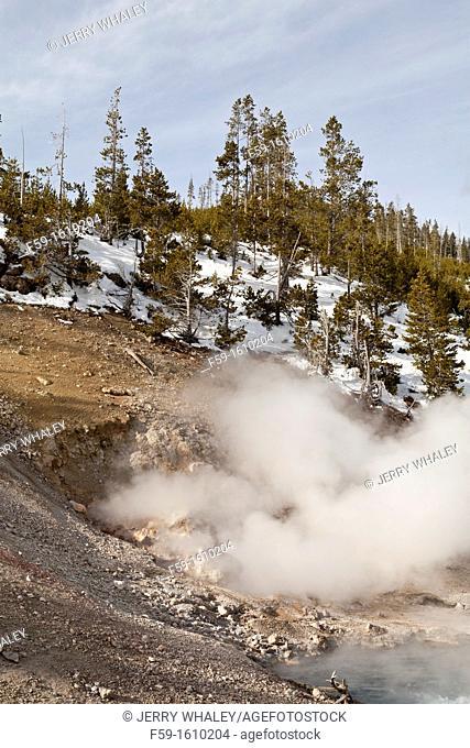 Beryl Spring, Winter, Yellowstone NP, WY