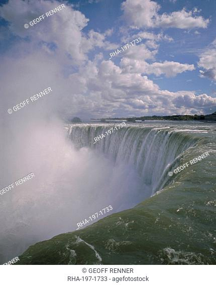 Horseshoe Falls from Table Rock, Niagara Falls, Niagara, Ontario, Canada, North America