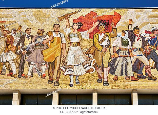 Albania, Tirana, Skanderbeg square, History museum