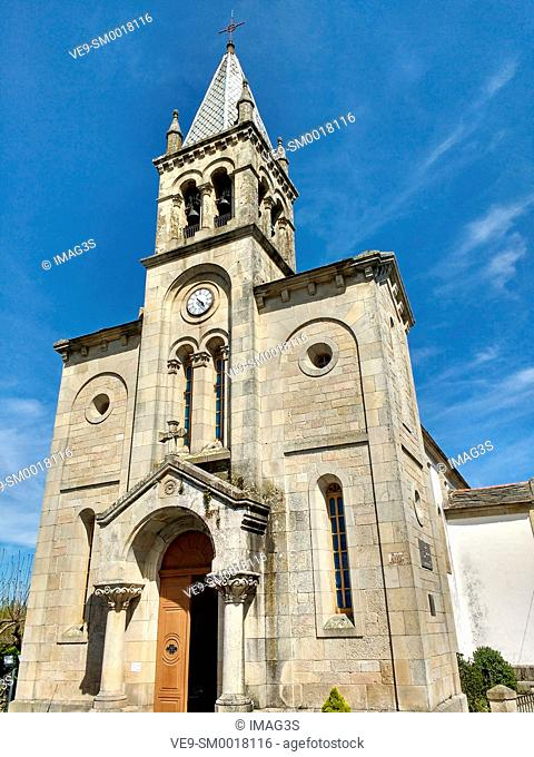 Santa Marina church in Sarria, Lugo province, Spain