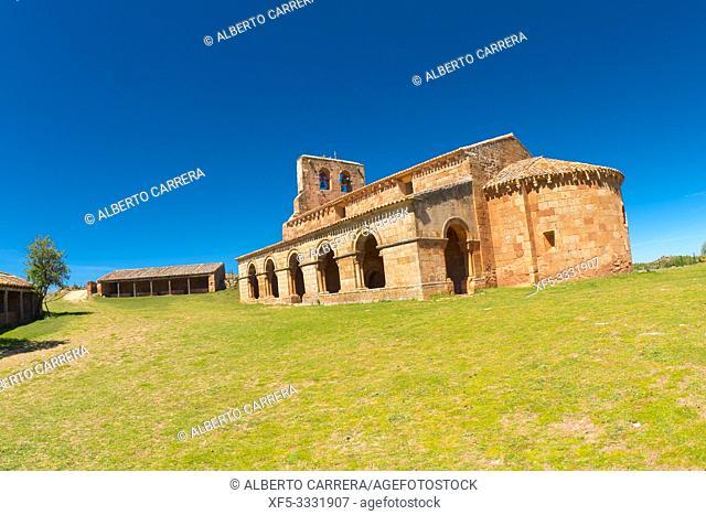 Chapel of Santa María de Tiermes, 12th Romanesque Style, Spanish National Heritage Site, Spanish Property of Cultural Interest, Montejo de Tiermes, Soria