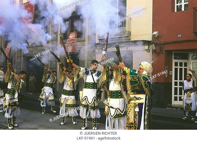 Moors and Christians Festival, Ontinyent, Province Valencia, Spain