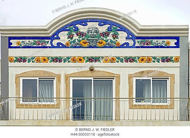 Haus, Verzierung, Fliesen, Blumenornamente