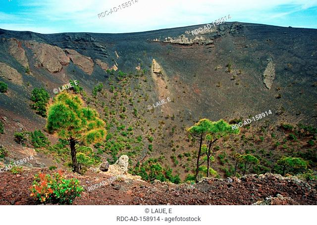 Volcano San Antonio Fuencaliente La Palma Canary Islands Spain crater