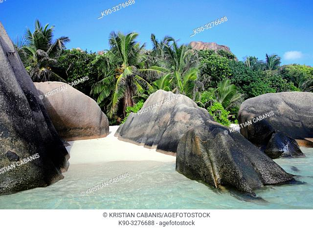 Grand Anse, Beach on La Digue, Seychelles, Indian Ocean, Africa