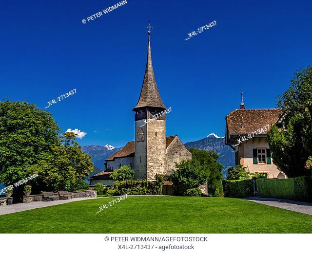 Castle Church Spiez Castle, Lake Thun, Bernese Oberland, Bern, Switzerland, Europe