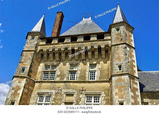 picturesque castle of Talcy in Loir et Cher