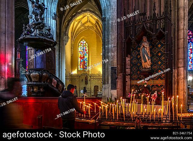 France, Nouvelle Aquitaine, Gironde, Basilic Saint Michel (12th-16th century) at Bordeaux