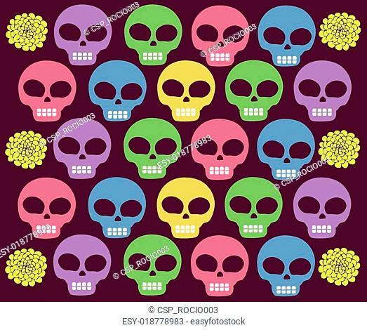 skulls colored