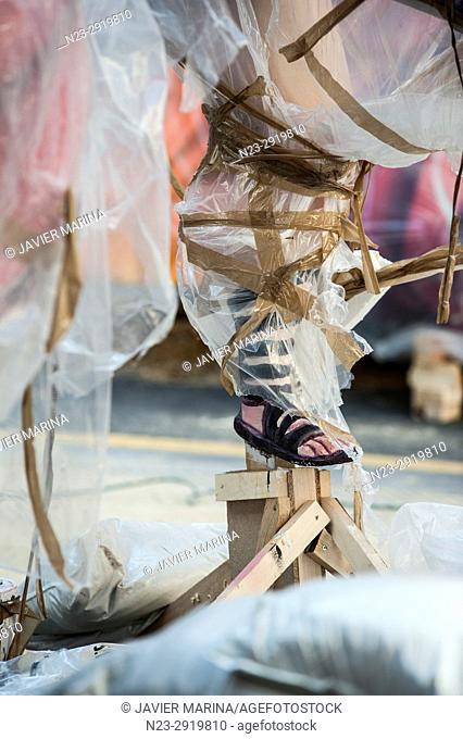 Fallas 2017, SUECA-LITERATO AZORIN street, Valencia, Spain. The Falles is a traditional celebration held in commemoration of Saint Joseph in the city of...
