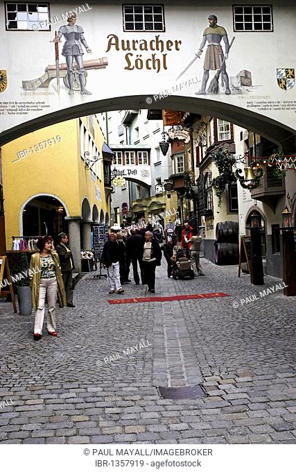 Old town of Kufstein with famous restaurants, Tyrol, Austria, Europe