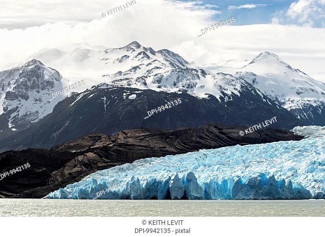 Grey Glacier and Grey Lake, Torres del Paine National Park; Torres del Paine, Magallanes and Antartica Chilena Region, Chile