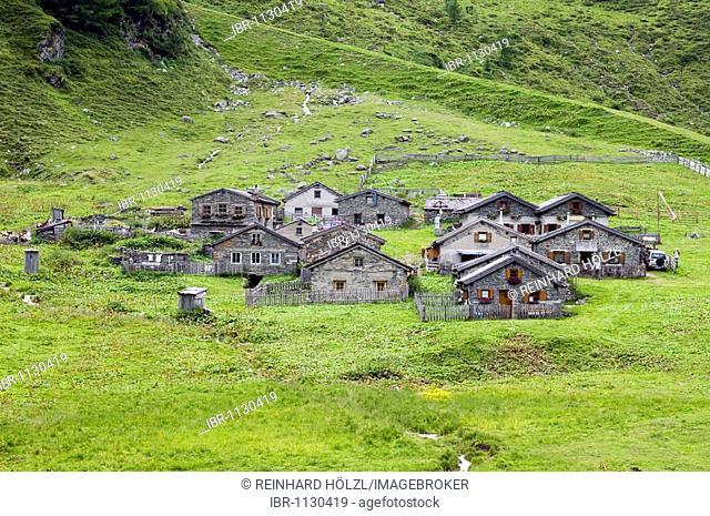 Zedldacher alpine pasture, Gruben near Matrei, East Tyrol, Austria, Europe