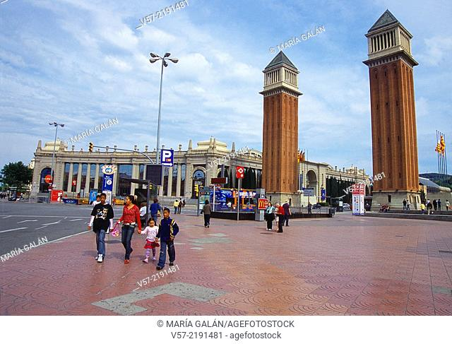 España Square. Barcelona, Catalonia, Spain