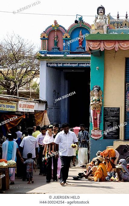 South India Tamil Nadu Kanyakumari Hindu temple district