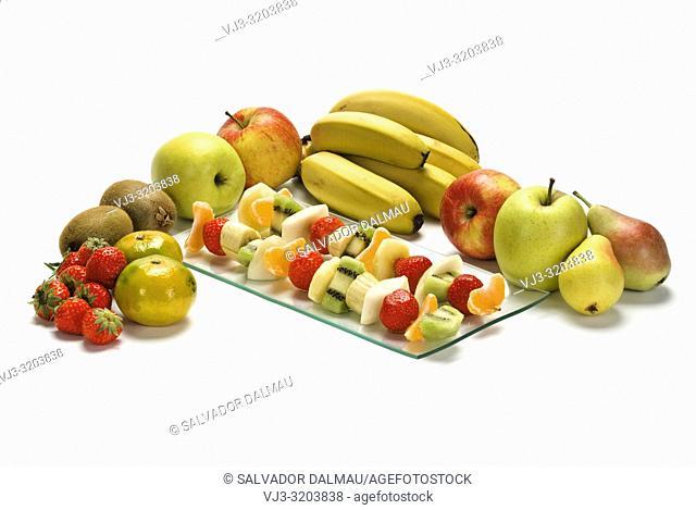 bodegon of fruit varieties,studio photography of girona,catalonia,spain,