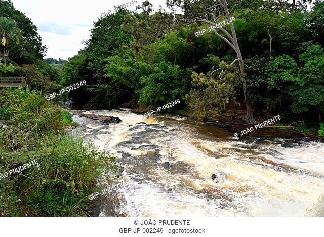 Waterfalls, Jacaré-pepira river, Parque das Saltos, 2018, city, Brotas, Sao Paulo, Brazil