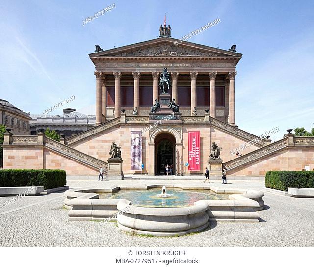 Old National Gallery Museum, Museum Island, Berlin, Germany, Europe