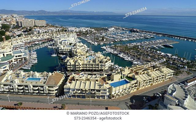 Puerto Deportivo de Benalmádena aerial view, Málaga, Andalusia, Spain