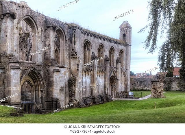 Glastonbury Abbey, Glastonbury, Somerset, England, UK