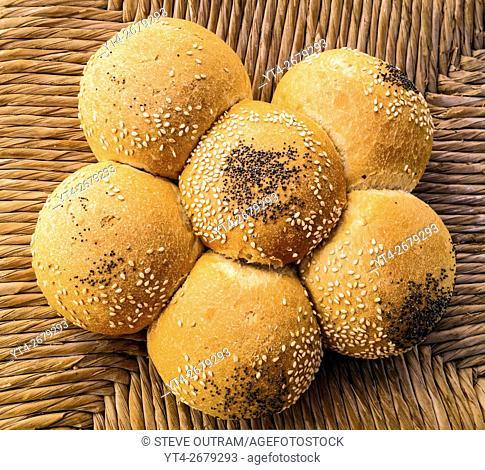 Greek Cuisine. Traditional Margarita White Bread