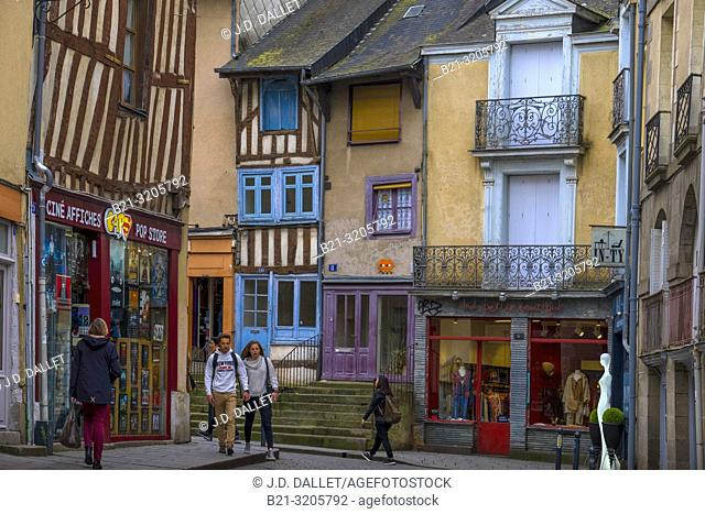 France, Britanny, Ille et Villaine, old part of Rennes
