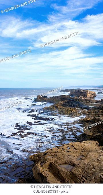 Rocky shoreline, Essaouira, Morocco