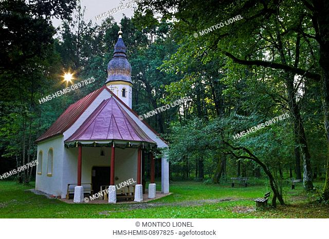 Germany, Bavaria, Munich, a small chapel in the Bavarian forest
