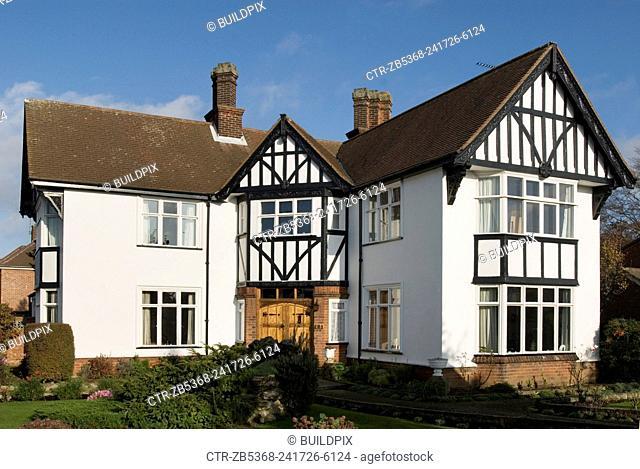 1930s mock tudor style housing, Ipswich, Suffolk, UK