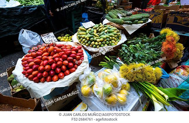 Farmers' market, Funchal, Madeira Island, Portugal, Europe