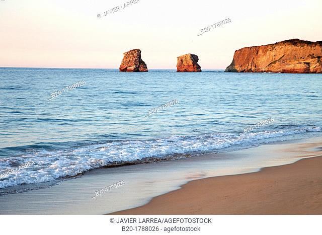 Les Jumeaux, Beach, Hendaye, Aquitaine, Pyrenees Atlantiques, France