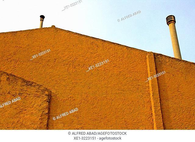 chimneys, Bellcaire d'Urgell, Lleida, Catalonia, Spain