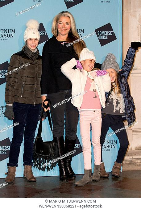 The Skate at Somerset House with Fortnum & Mason Launch Party held at the Somerset House - Arrivals Featuring: Tamara Beckwith Where: London