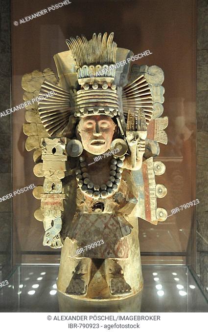 Pre-Columbian museum piece, Museo Nacional de Antropología, National Museum of Anthropology, Mexico City, Mexico, North America