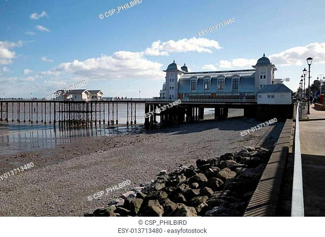 CARDIFF UK MARCH 2014 - View of Penarth Pier
