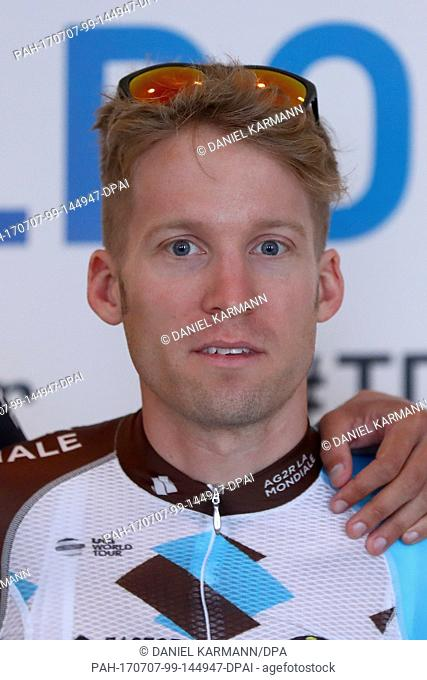 Jan Bakelants from Belgium of the Team AG2R La Mondialefor the Tour de France 2017, photographed in Duesseldorf, Germany, 29 June 2017