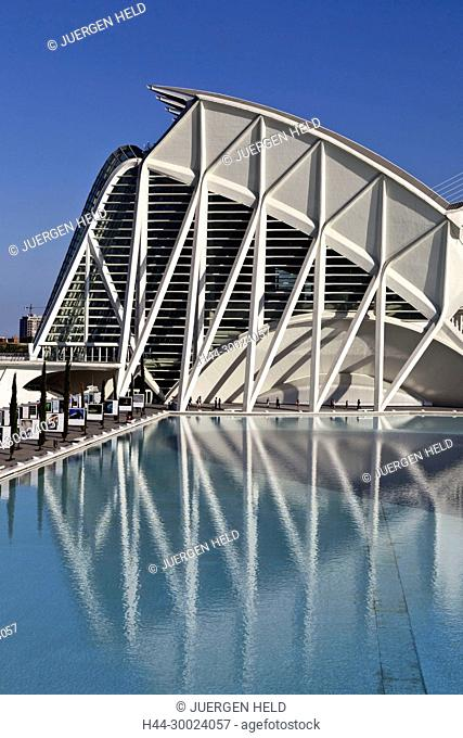 Príncipe Felipe Science Museum, City of sciences and arts by architect Santiago Calatrava