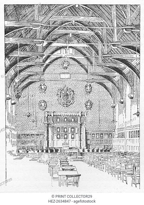 The Westminster Schoolroom, Formerly The Abbot's Dormitory', c1897. Artist: William Patten