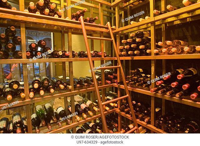 Wine cellar, Espai Sucre restaurant, Barcelona