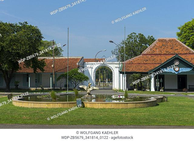 The gate of the Mangkunegaran Palace, which is still a royal residence and was built in 1757 in the center of Solo, a city on Java, Indonesia