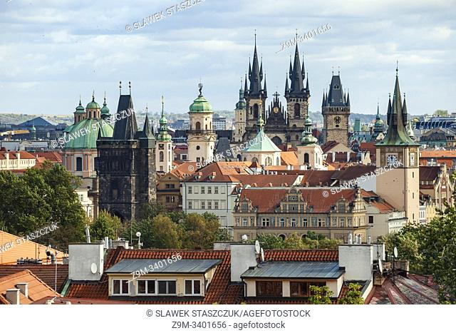 Prague old town skyline, Czechia