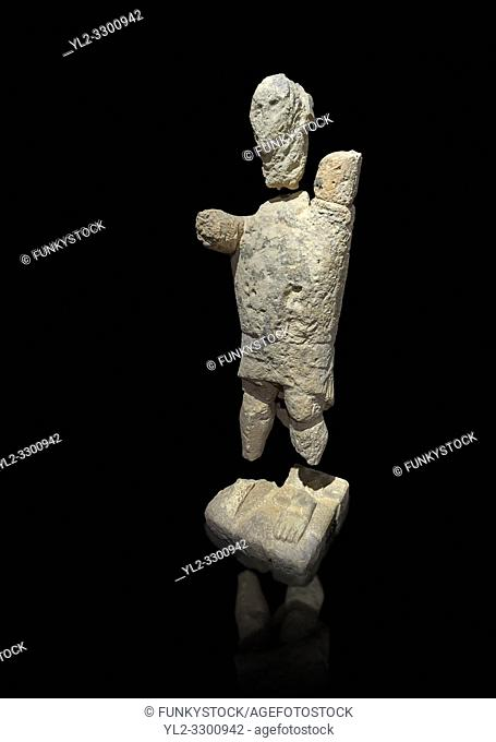 9th century BC Giants of Mont'e Prama Nuragic stone statue of a boxer, Mont'e Prama archaeological site, Cabras. 2014 excavation