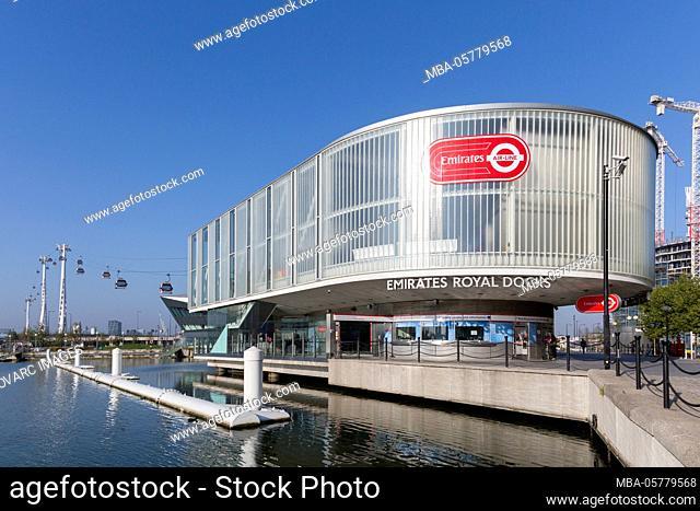 Emirates Royal Docks Station, Emirates Air Line, gondola lift, London, United Kingdom