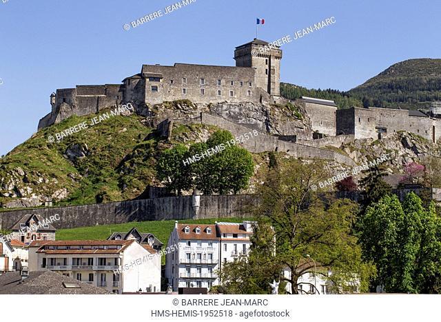 France, Hautes Pyrenees, Lourdes, castle