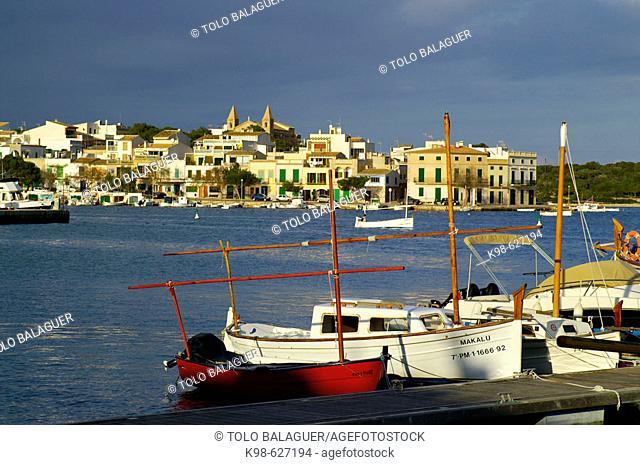 Sa Capella neighbourhood. Porto Colom. Felanitx. Migjorn region. Mallorca. Baleares. Spain.