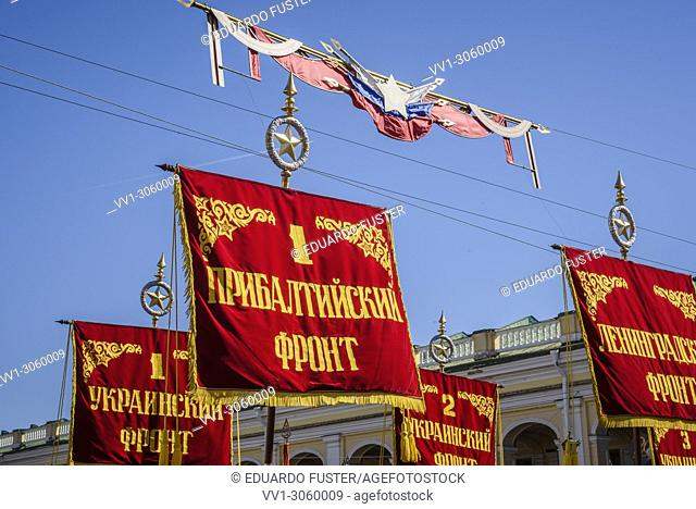 St Petersburg, Russia. 9th May, 2018. Victory Day celebrations in St. Petersburg, on May 9, 2018