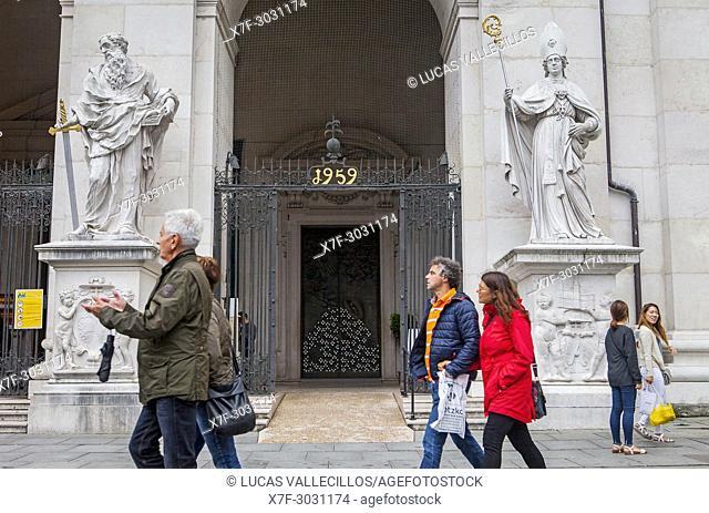 Detail of main entrance, Cathedral, Salzburg, Austria