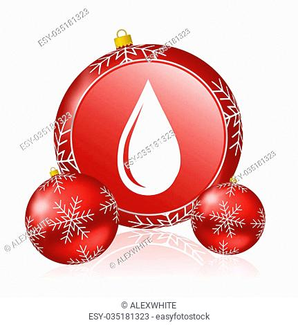 water drop christmas icon