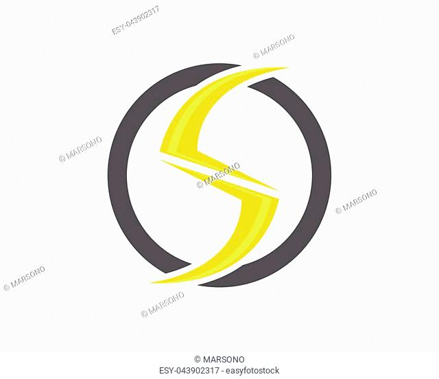 Vector lightning icon logo and symbols template